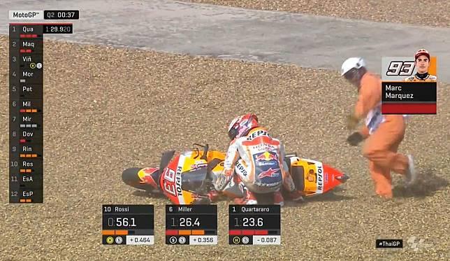 Marc Marquez Jatuh di Kualifikasi MotoGP Thailand, 1 Rekornya Bisa Tumbang