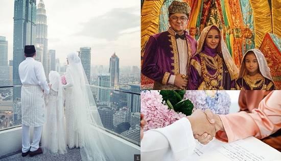 (Pernikahan Engku Emran dan Laudya Cynthia Bella. Foto: Instagram/@laudyacynthiabella)