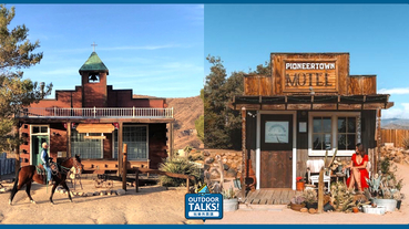 穿越西部世界的電影場景美國沙漠Pioneertown牛仔小鎮