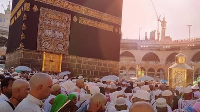 Ilustrasi cuaca atau suhu panas ekstrem di Mekkah, Arab Saudi, saat jemaah melakukan ibadah haji/umrah. (Shutterstock)