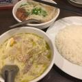 グリーンタイカレー(甘口)と牛肉煮込みそばセット - 実際訪問したユーザーが直接撮影して投稿した信濃町タイ料理メーヤウの写真のメニュー情報