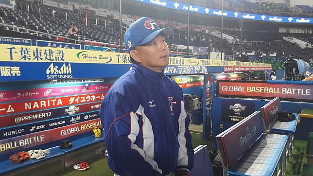 中華隊對南韓之戰面臨極大壓力,總教練洪一中坦言球隊最近打線不順。記者藍宗標/攝影