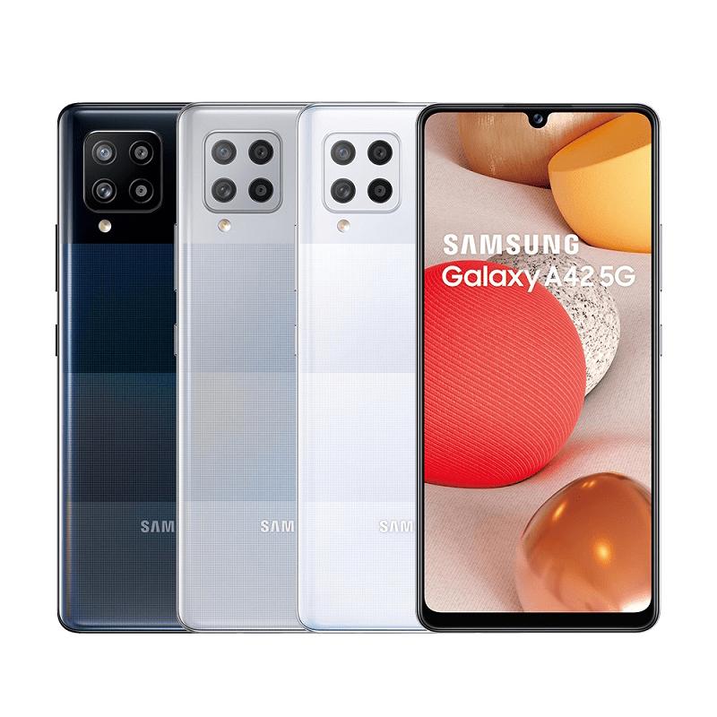 三星最平價5G生力軍!Samsung Galaxy A42手機,支援台灣5G全頻段,搭載高通最新Snapdragon 750G,搭載5000mAh超長續航力電池,A系列的卓越4+1鏡頭,6.6吋Sup
