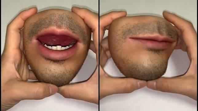 Dompet unik berbentuk mulut manusia. (Twitter/@44doooo)