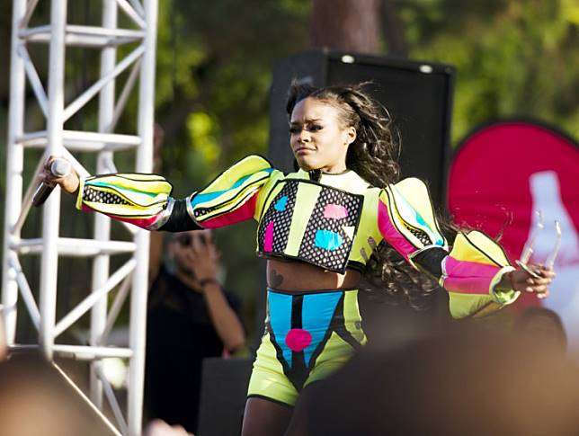 Rapper Azealia Banks performs during the 2014 LA Gay Pride Festival on June 7, 2014 in West Hollywood, California.