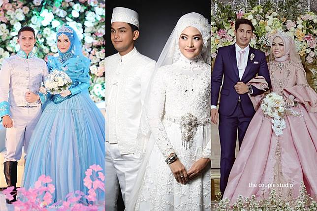 10 Inspirasi Gaun Pengantin Muslimah Bergaya Modern Bak Putri Semalam