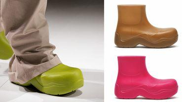 BV雲朵包、方頭鞋已不夠看!全新厚底雨鞋,酪梨、莓果色太可口