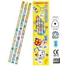 利百代LIBERTY CB-137 注音符號抗菌三角皮頭鉛筆 12支