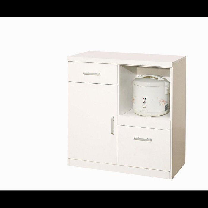 【石川家居】YU-388-6 白色香奈兒2.7尺餐櫃下座 (不含其他商品) 台北到高雄滿三千搭配車趟免運。人氣店家石川家居的餐櫃、碗碟櫃、收納櫃(下座)有最棒的商品。快到日本NO.1的Rakuten樂