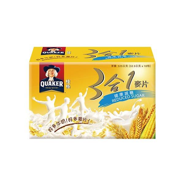 桂格健康低糖三合一麥片32.5gX10包