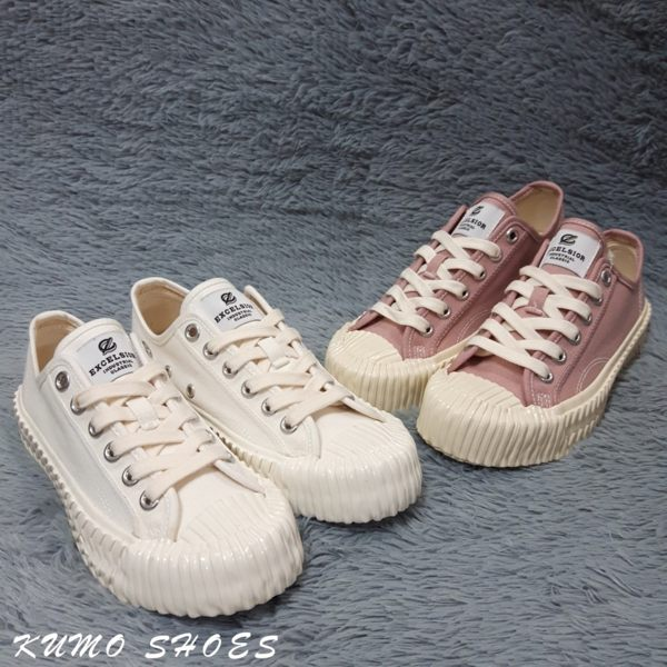 韓國 EXCELSIOR 餅乾鞋 粉白 全白 帆布鞋 CS-M6017CV-WG 正品 女鞋 帆布 休閒鞋