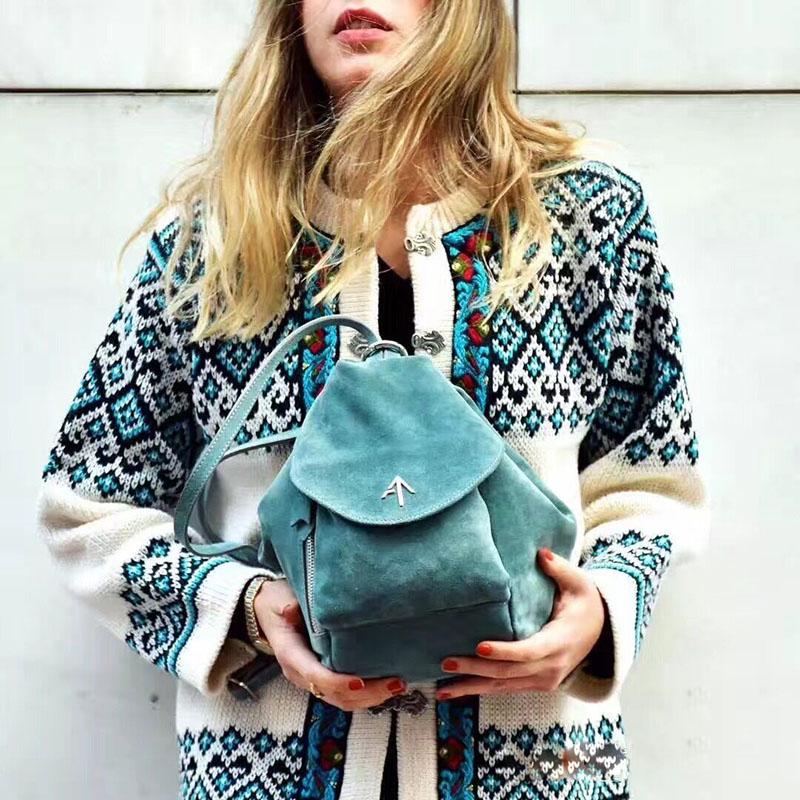 manu atelier土耳其箭頭包2019新款女包時尚雙肩包真皮揹包百搭潮