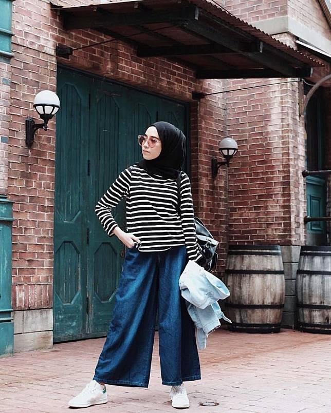 Style Hijab Celana Kulot Jeans