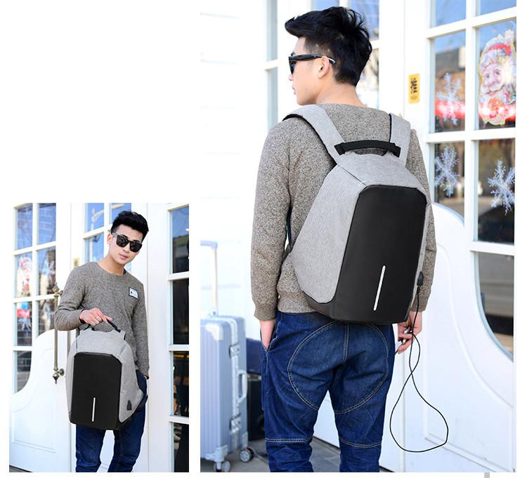 防盜包 防水USB充電包 多功能背包 雙肩背包#134