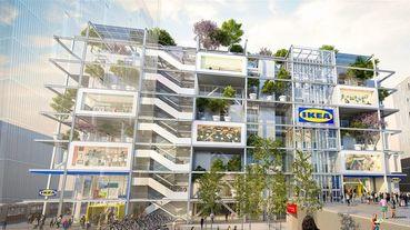 全球第一間「綠建築」IKEA美到讓人驚呼!「落地玻璃帷幕、頂樓空中花園」化身巨型植被書架~概念曝光療癒指數破表