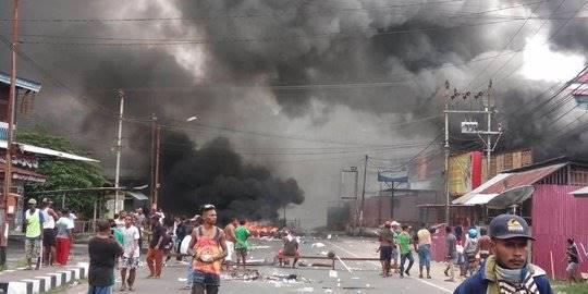 kerusuhan di papua. ©2019 AFP Photo/STR
