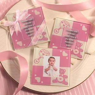 粉紅熊相框杯墊 (兩入裝) 婚禮小物 送客小禮 婚禮佈置/50組