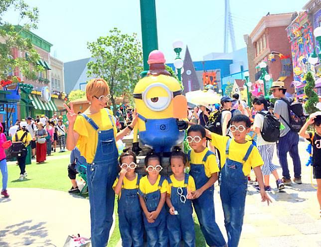 Kompak pagi seragam minion. (Foto: copyright instagram.com/sachina212)