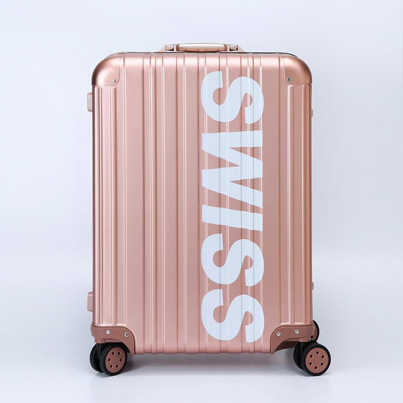 *限量潮款* - Aviator 極緻奢華鋁鎂合金行李箱 26吋-玫瑰金