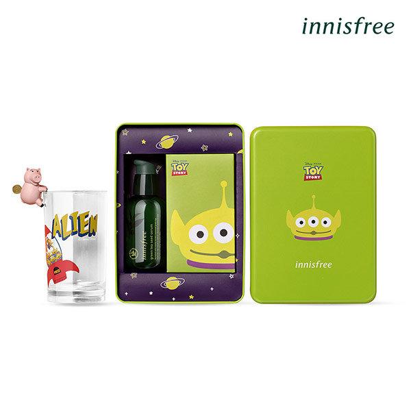 [Innisfree] 玩具總動員绿茶籽保濕精華液(三眼怪鐵盒組)