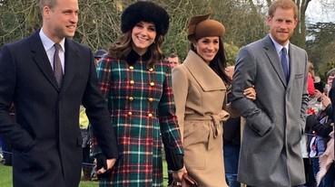 首度同框!準王妃Meghan Markle《最新穿搭》與皇室成員歡度聖誕!