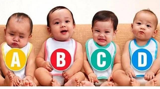 Tes Kepribadian: Dari 4 Bayi Ini, Mana yang Menurut Anda Bayi Perempuan? (Oddmenot)