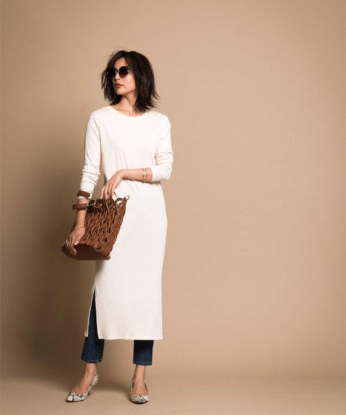 簡約連身裙+長褲