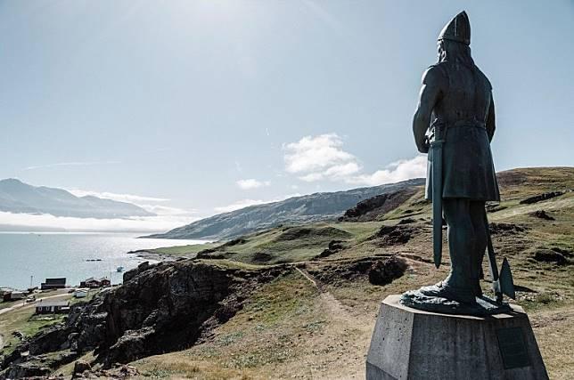 如今在格陵蘭亦可找到紅鬍子的雕像。(互聯網)