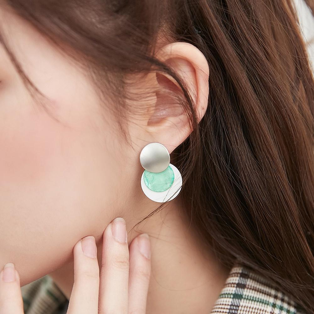 [ROCOSIX官方旗艦店]配色圓時尚耳環