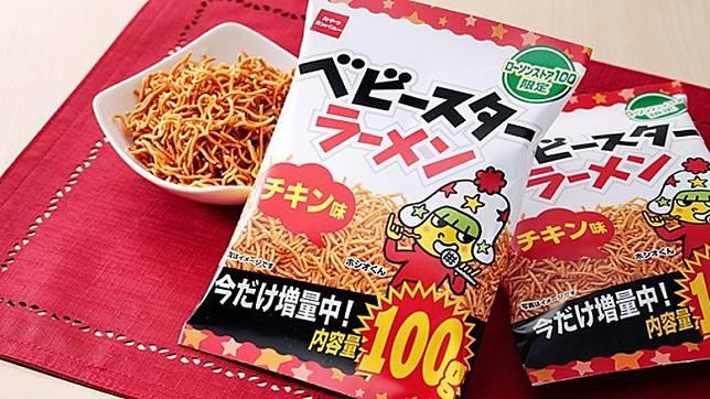 由74g增量至100g的加量版童星點心麵(雞肉味),只限10萬包,要買趁手。(互聯網)