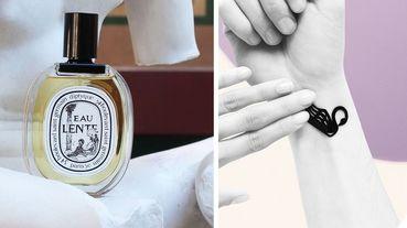 Diptyque推出香氛刺青貼紙黑白香氛手環!還有散發香氣金屬飛鳥胸針...完全燃起收藏慾!