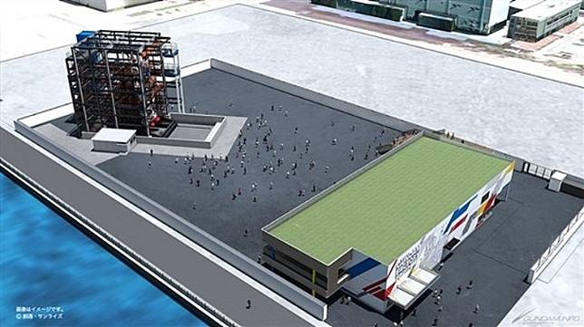 Gundam Factory Yokohama位於橫濱的山下埠頭中,空間大視野頗寬闊。(互聯網)