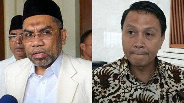Tenaga Ahli Utama Kantor Staf Presiden (KSP), Ali Mochtar Ngabalin dan Ketua DPP Partai Keadilan Sejahtera (PKS) Mardani Ali Sera