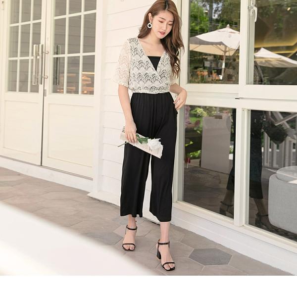 貼心假兩件設計增添造型感,涼感面料提升舒適感n寬褲版型和柔軟材質修飾腿部線條