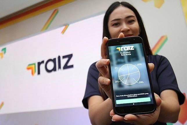 Peluncuran aplikasi mobile Raiz di Jakarta.