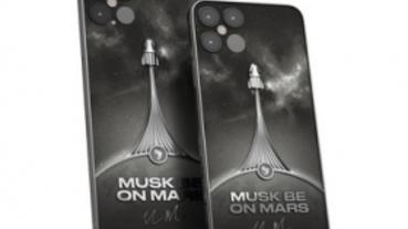 Caviar 打造內嵌 SpaceX 火箭碎片的「Musk Be On Mars」奢華 iPhone 12 手機