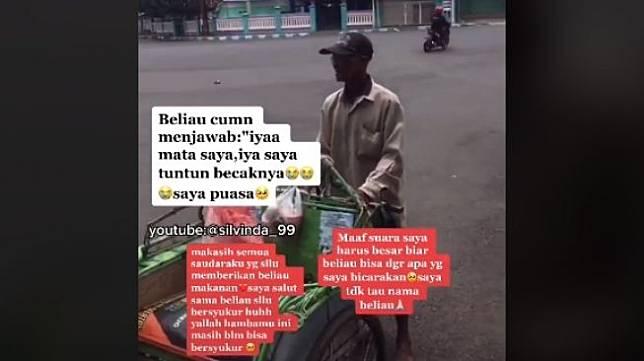 Tukang becak sepi penumpang karena keterbatasan fisik (tiktok.com/@silvinanda_99)