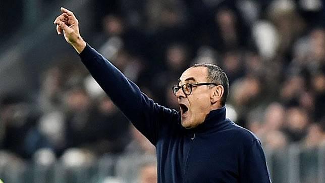 Pelatih Juventus, Maurizio Sarri. REUTERS