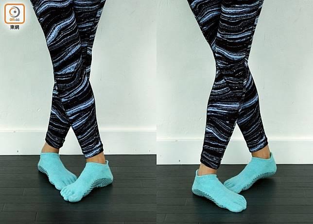 當交叉腳着地時左右腳交替而做。(方偉堅攝)