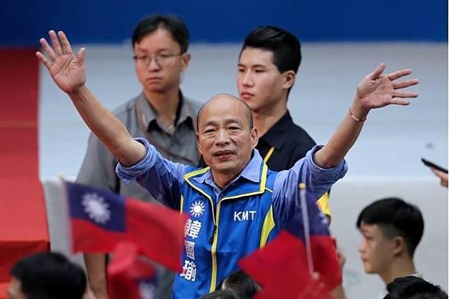 國民黨總統參選人韓國瑜。(資料照片,黃世麒攝)
