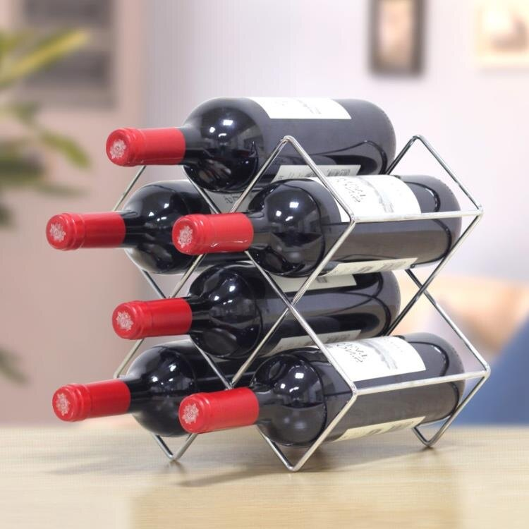 酒架置物架紅酒架格子葡萄酒展示酒托架酒柜酒瓶擺件創意