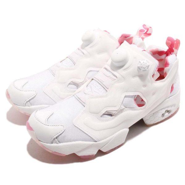 Reebok 慢跑鞋 Insta Pump Fury OG MU 白 粉紅迷彩 女鞋 休閒鞋 【PUMP306】 DV3696
