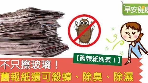 不只擦玻璃!舊報紙還可殺蟑、除臭、除濕
