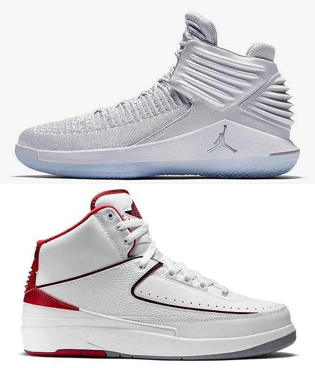 2017年推出的Air Jordan XXXII,用上專屬Flyknit結構及Flight Speed技術打造,從鞋跟立體裝飾細節就可以看出設計是源自Air Jordan 2。 (互聯網)