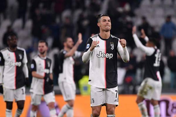 Ronaldo bereaksi usai Juventus membukukan kemenangan 2-1 atas Parma di laga lanjutan Serie A.