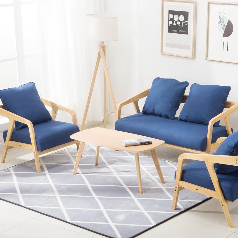 北歐沙發小戶型輕奢客廳簡約現代布藝三人簡易臥室日式小沙發迷你