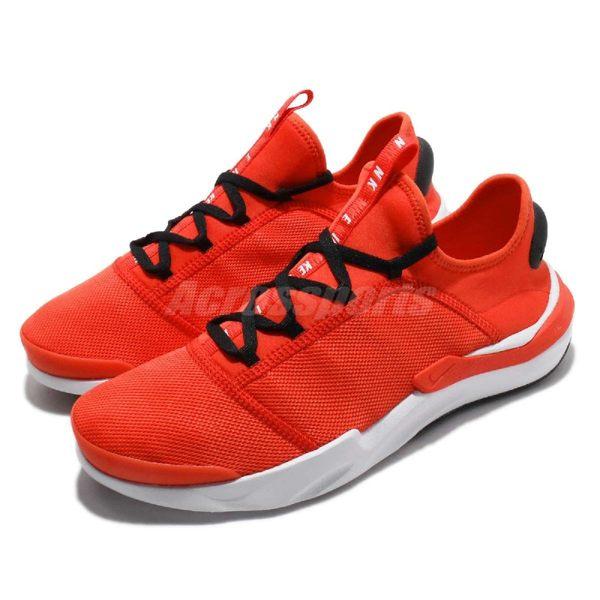 【六折特賣】Nike 休閒鞋 Shift One 紅 白 透氣網布 襪套式 基本款 男鞋 運動鞋【PUMP306】 AO1733-601