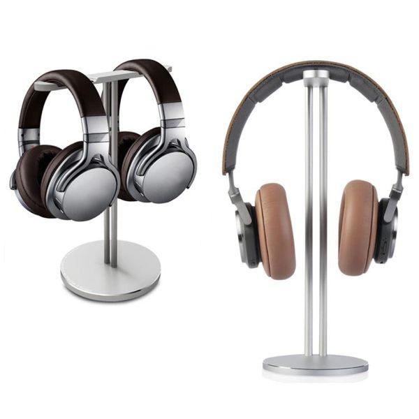 耳機支架頭戴式金屬耳機收納支架耳麥掛架托架鋁合金架子立式展架