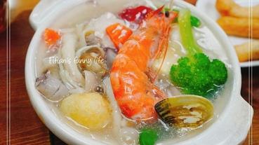 | 基隆美食| 瑞芳八斗子車站 霧茶精緻簡餐 海鮮套餐 麻油松阪豬套餐