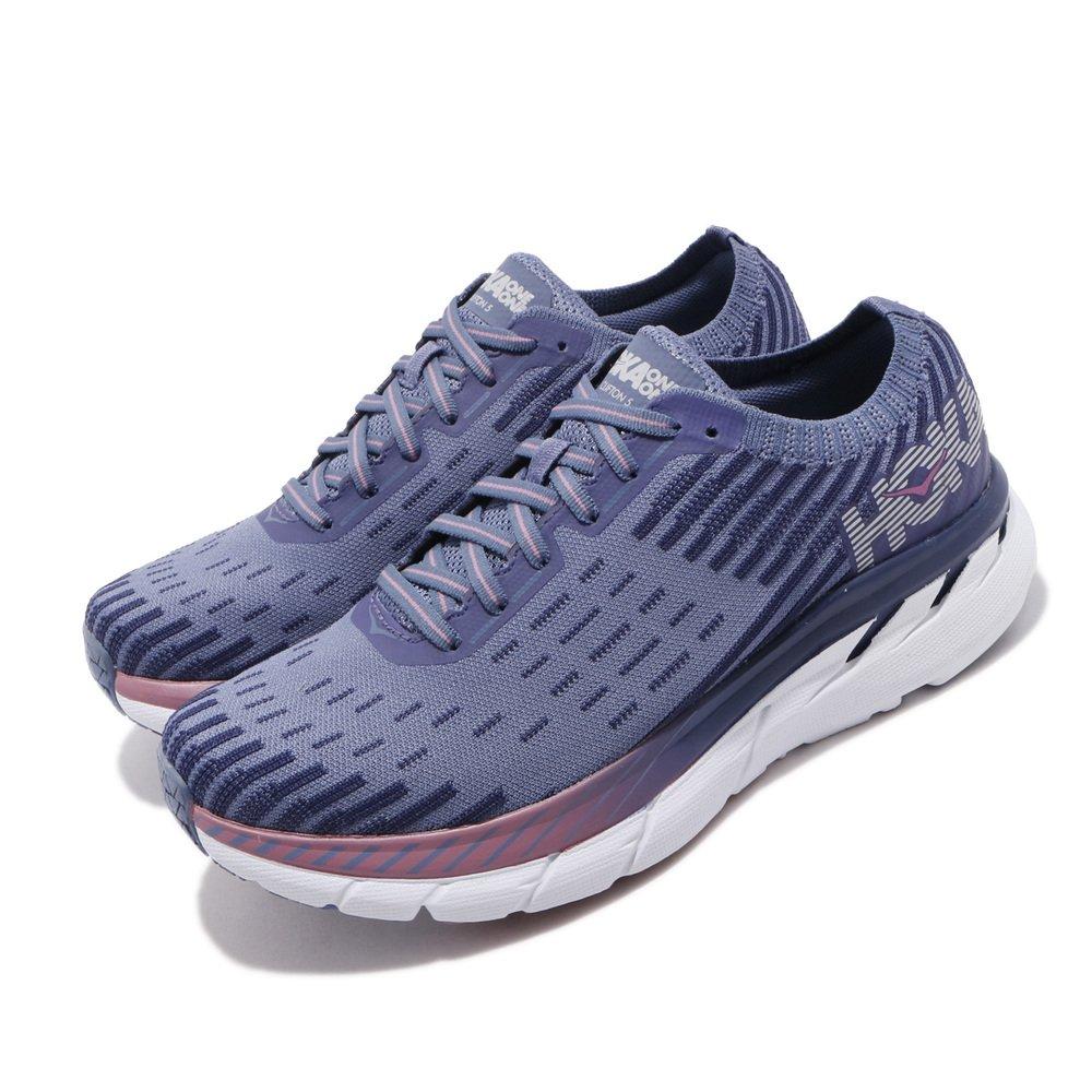 專業慢跑鞋品牌:HOKA ONE ONE型號:HO1094310MBRB品名:W Clifton 5配色:藍色,白色
